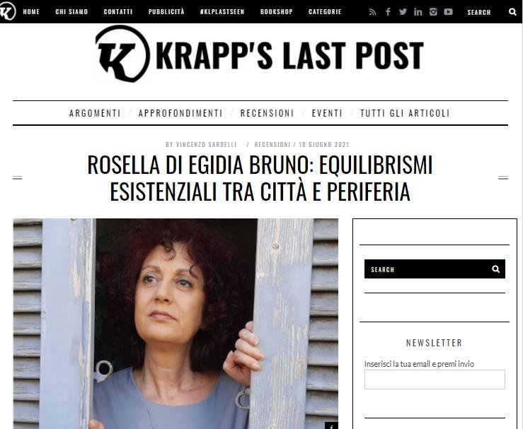 Rosella di Egidia Bruno: equilibrismi esistenziali tra città e periferia